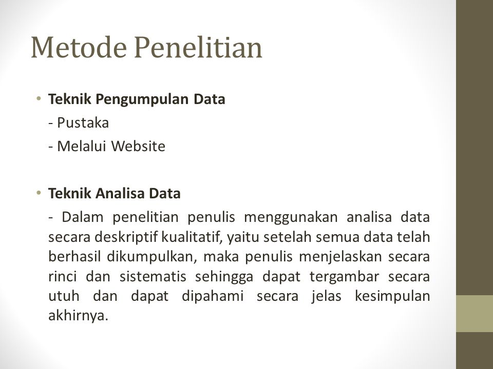 Metode Penelitian Teknik Pengumpulan Data - Pustaka - Melalui Website