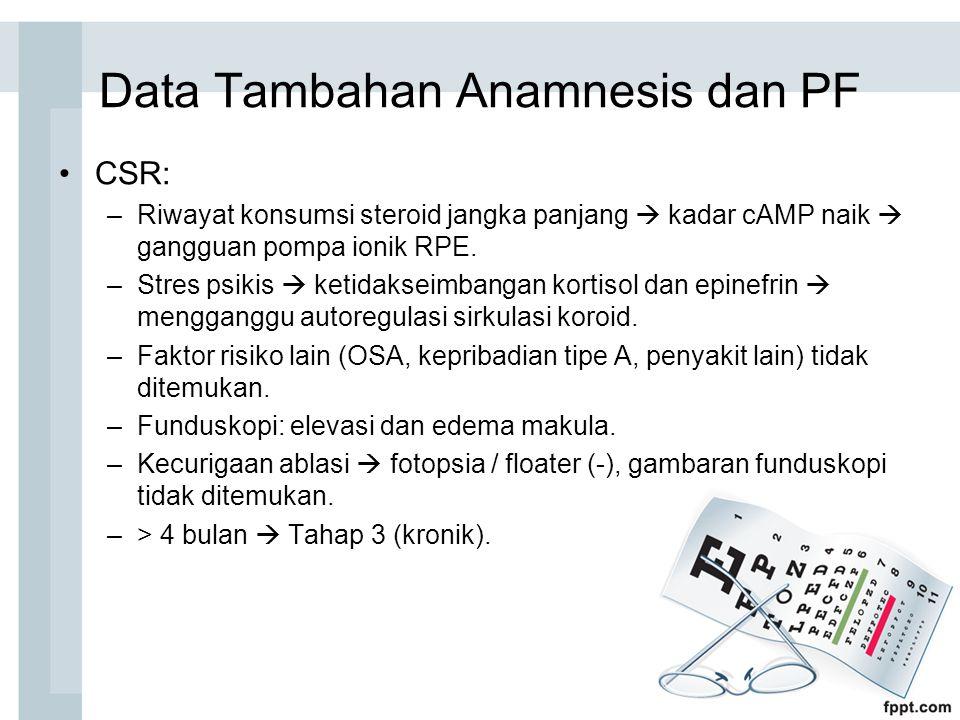Data Tambahan Anamnesis dan PF