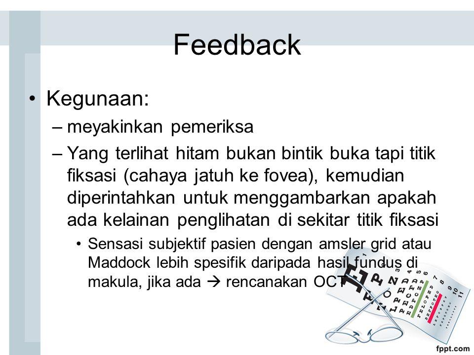 Feedback Kegunaan: meyakinkan pemeriksa