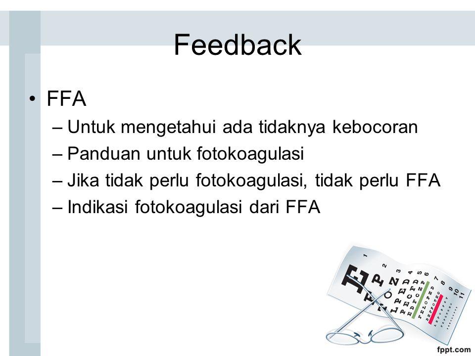Feedback FFA Untuk mengetahui ada tidaknya kebocoran