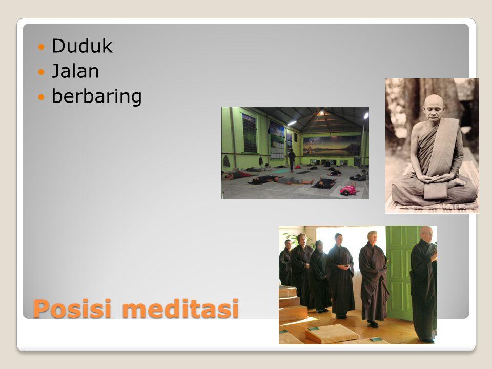 Duduk Jalan berbaring Posisi meditasi