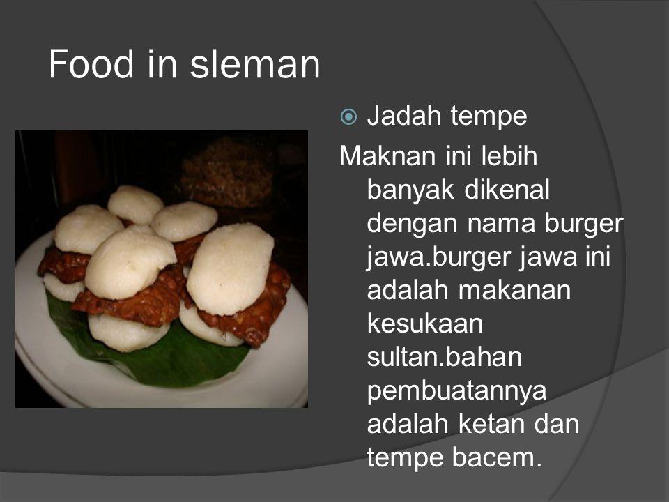 Food in sleman Jadah tempe