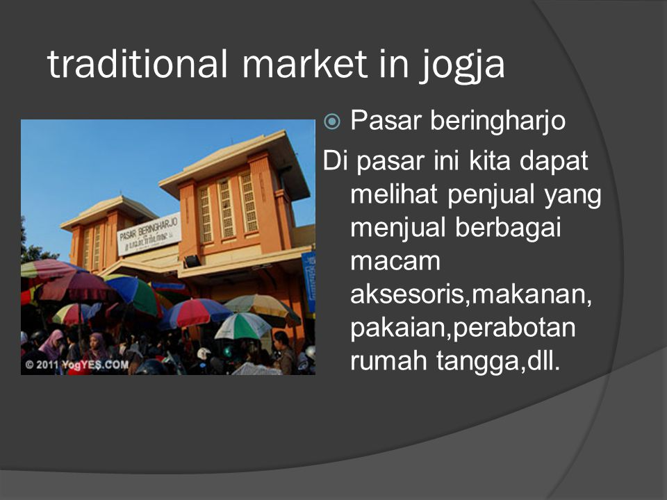 traditional market in jogja