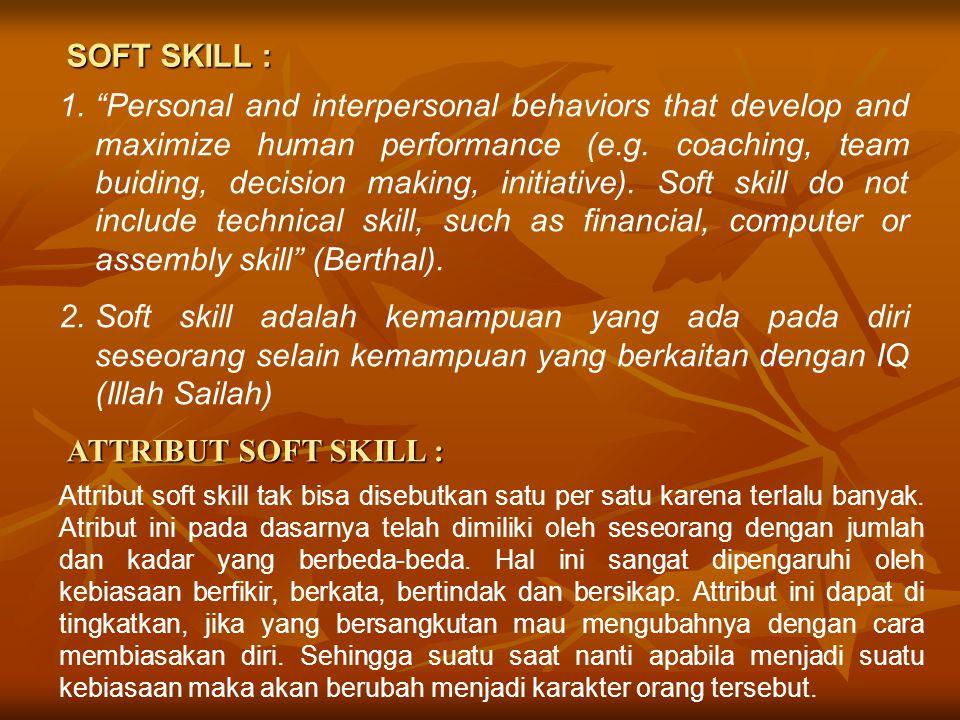SOFT SKILL :