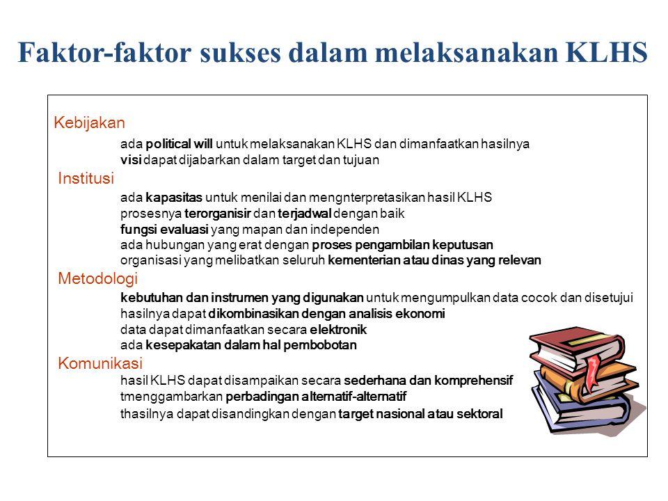Faktor-faktor sukses dalam melaksanakan KLHS