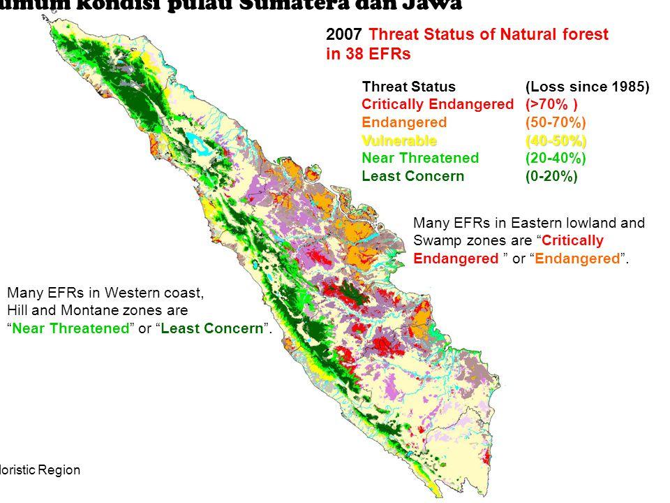 Indikasi umum kondisi pulau Sumatera dan Jawa