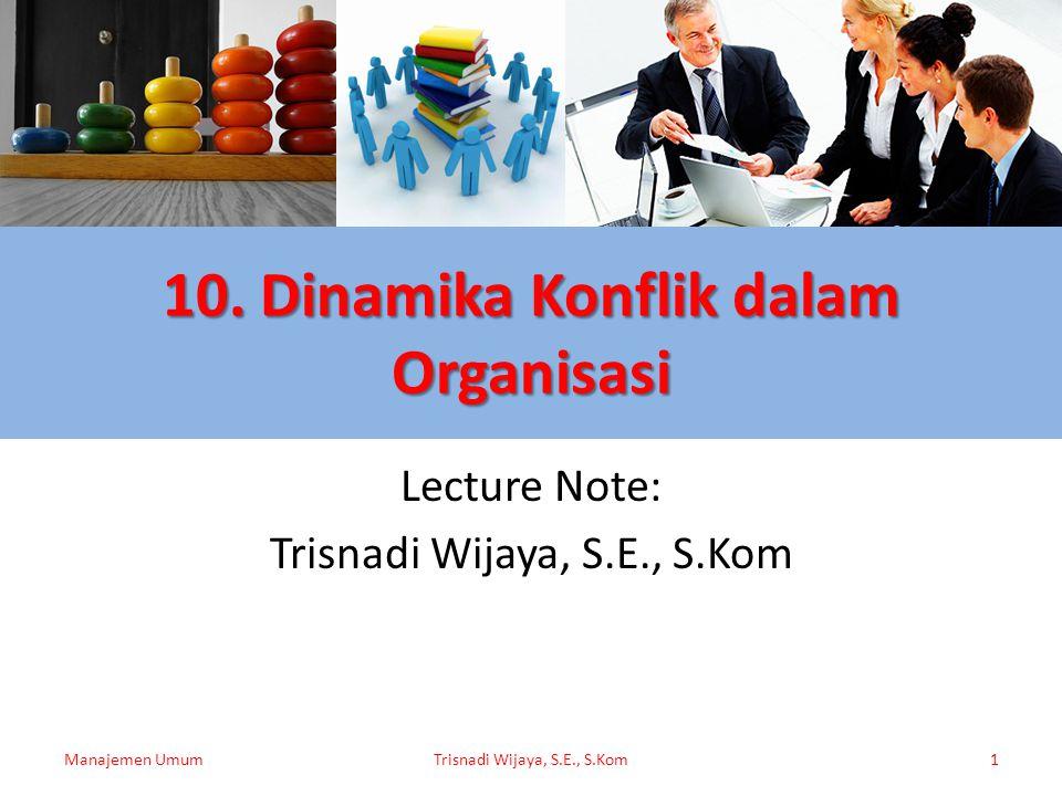10. Dinamika Konflik dalam Organisasi