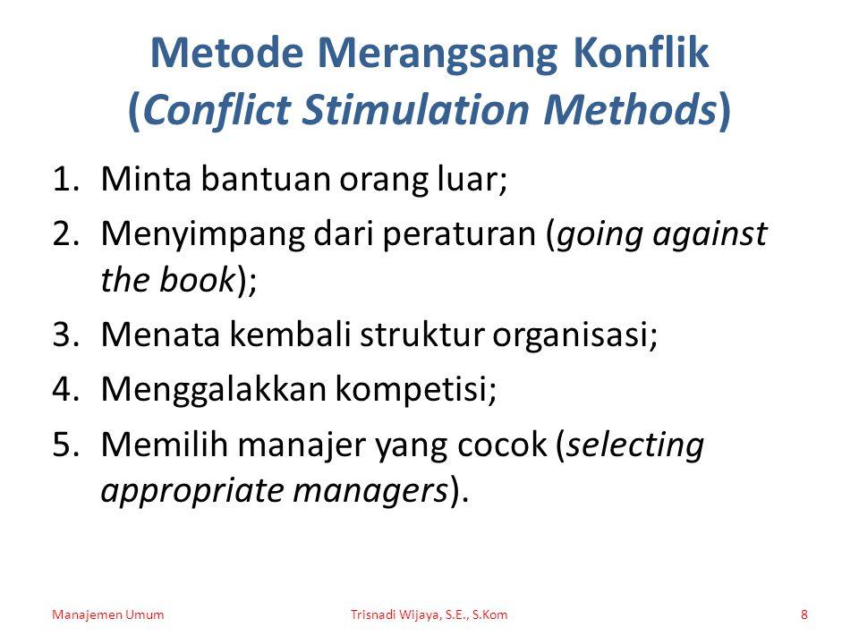 Metode Merangsang Konflik (Conflict Stimulation Methods)