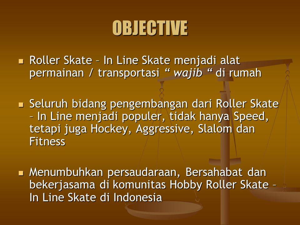 OBJECTIVE Roller Skate – In Line Skate menjadi alat permainan / transportasi wajib di rumah.