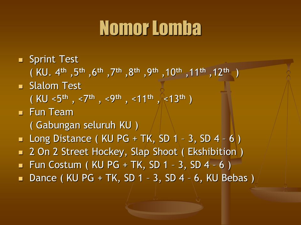 Nomor Lomba Sprint Test