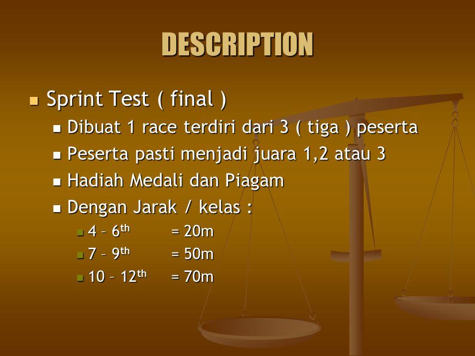 DESCRIPTION Sprint Test ( final )