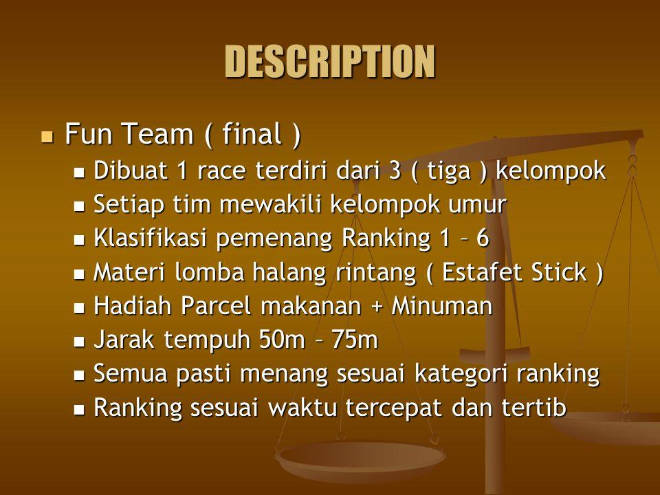 DESCRIPTION Fun Team ( final )