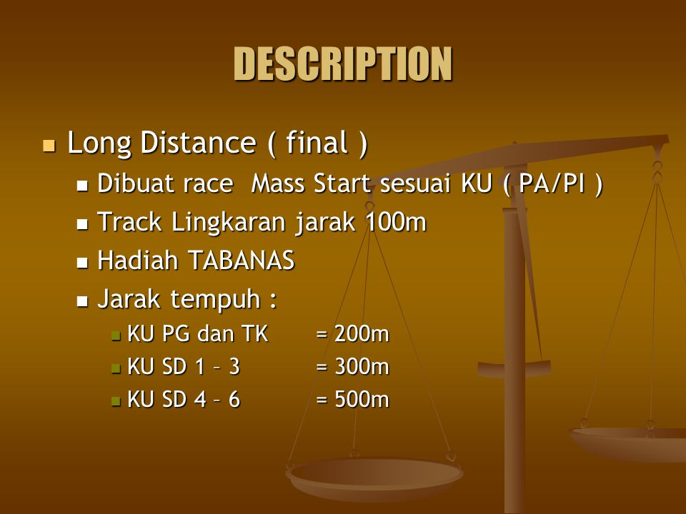DESCRIPTION Long Distance ( final )