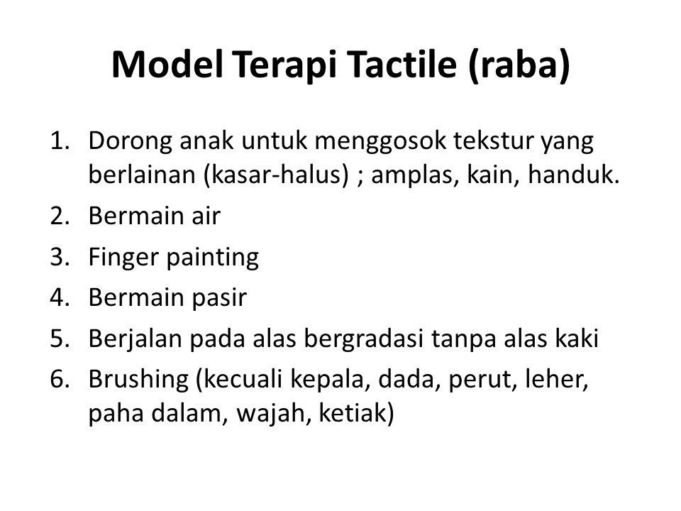 Model Terapi Tactile (raba)