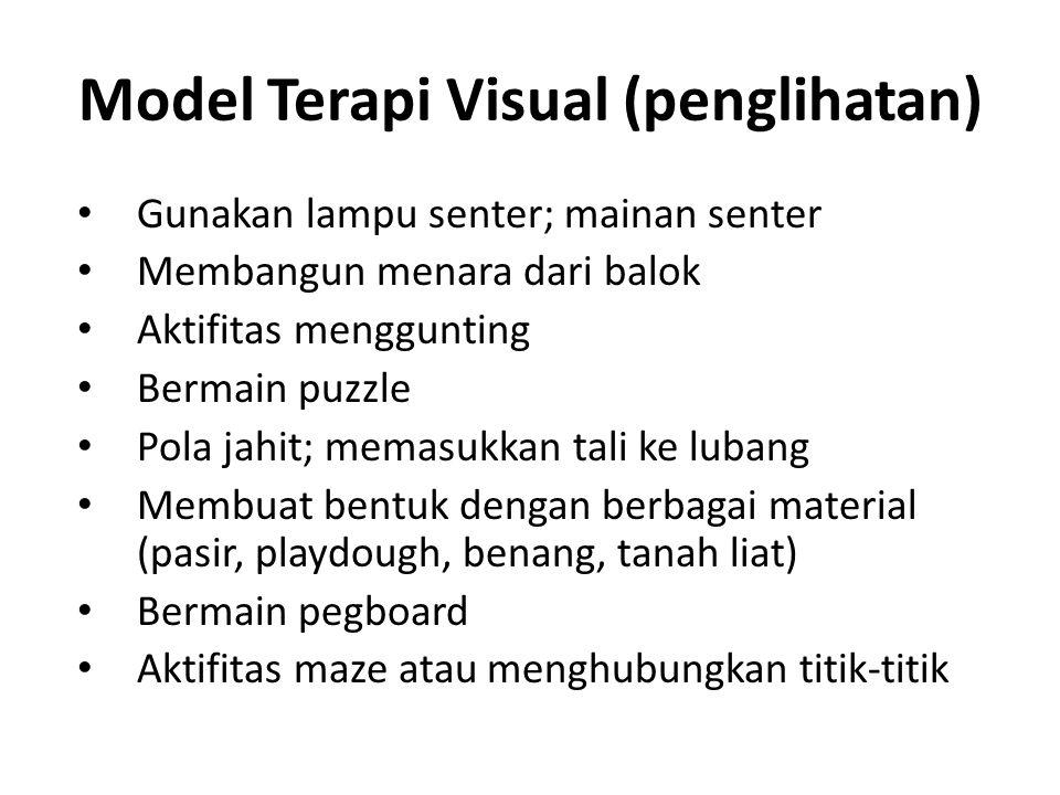 Model Terapi Visual (penglihatan)