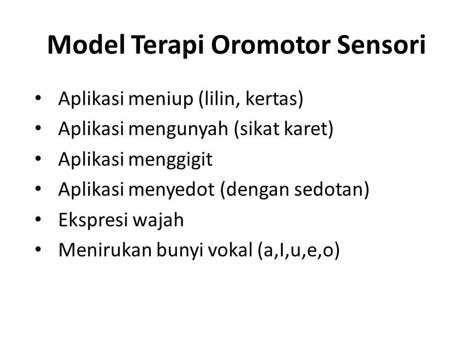 Model Terapi Oromotor Sensori