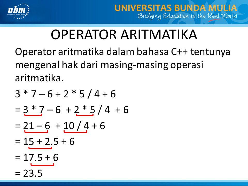 OPERATOR ARITMATIKA