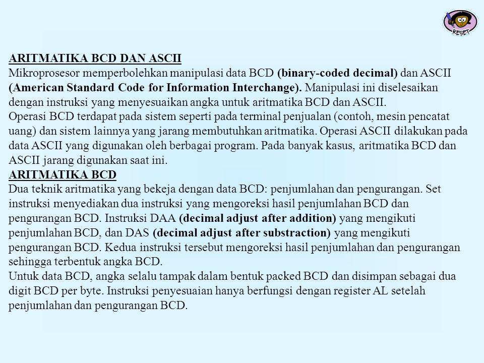 ARITMATIKA BCD DAN ASCII