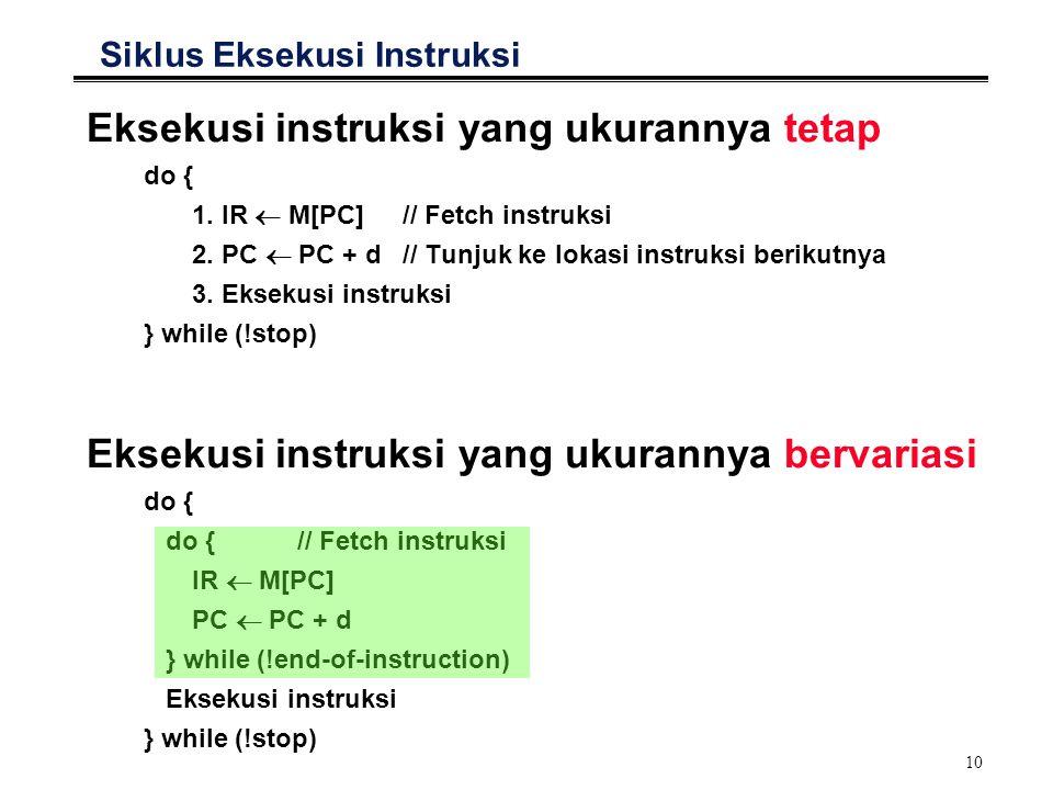 Siklus Eksekusi Instruksi