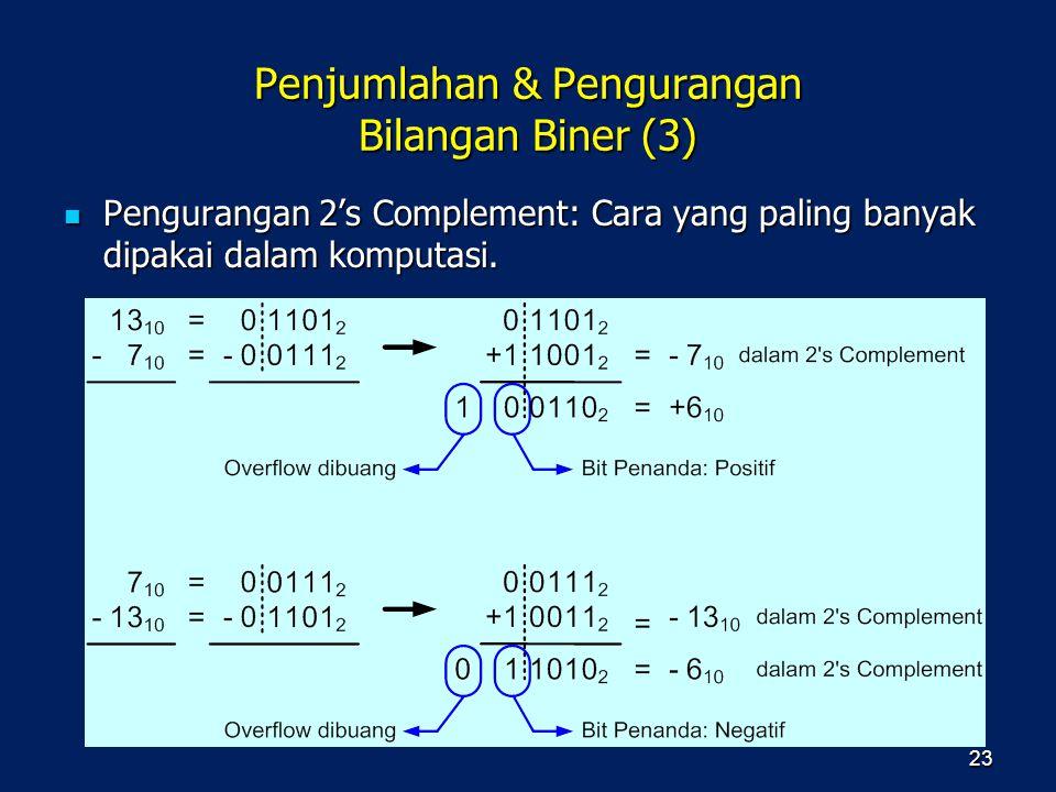 Penjumlahan & Pengurangan Bilangan Biner (3)