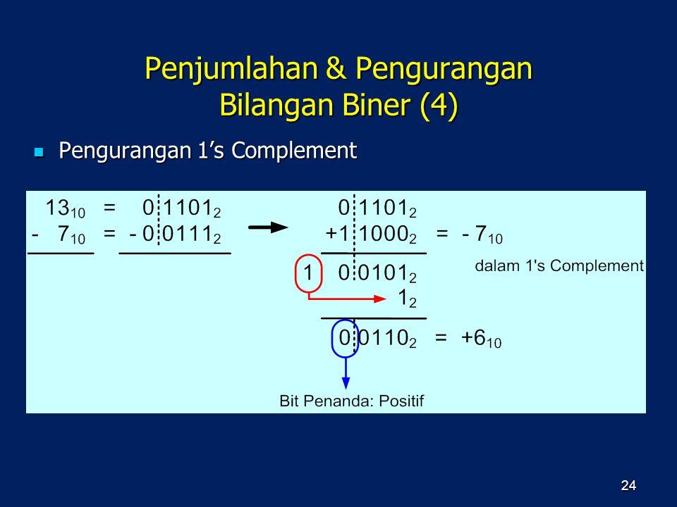 Penjumlahan & Pengurangan Bilangan Biner (4)