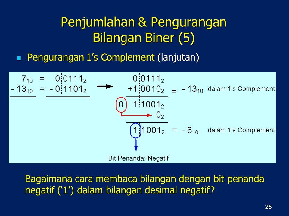 Penjumlahan & Pengurangan Bilangan Biner (5)
