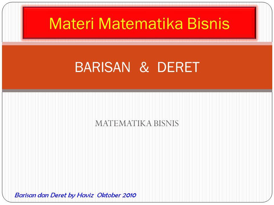 Materi Matematika Bisnis