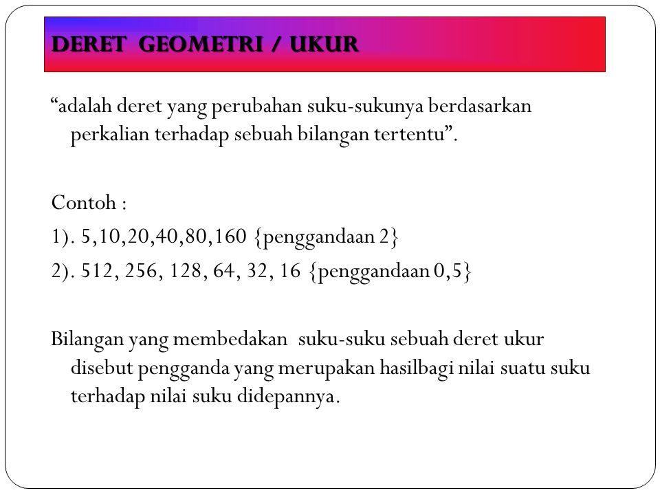 DERET GEOMETRI / UKUR