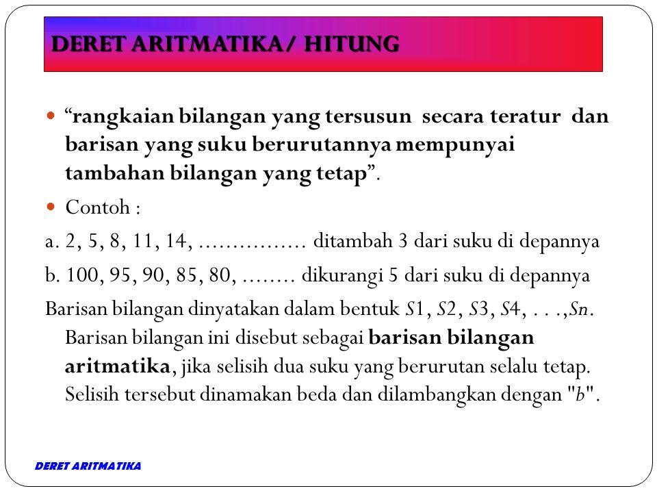 DERET ARITMATIKA/ HITUNG
