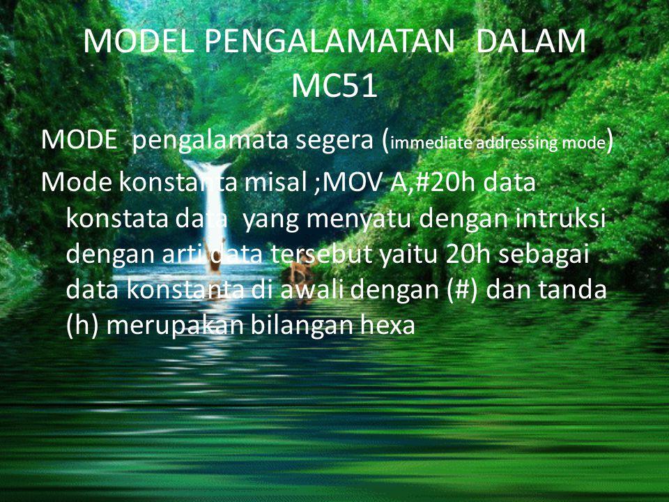 MODEL PENGALAMATAN DALAM MC51