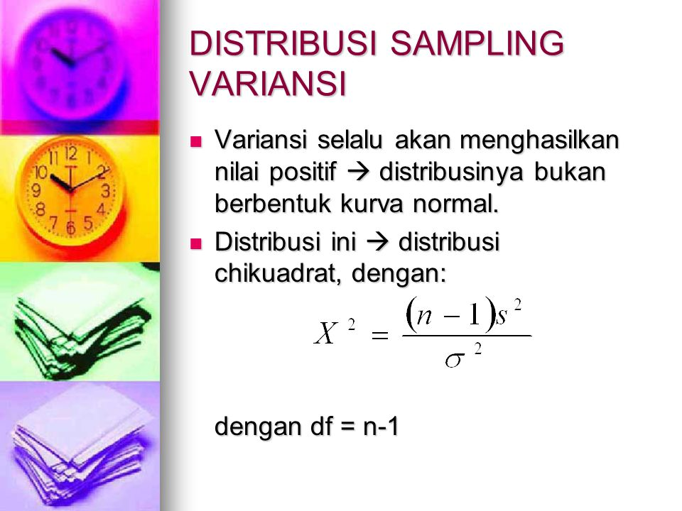 DISTRIBUSI SAMPLING VARIANSI
