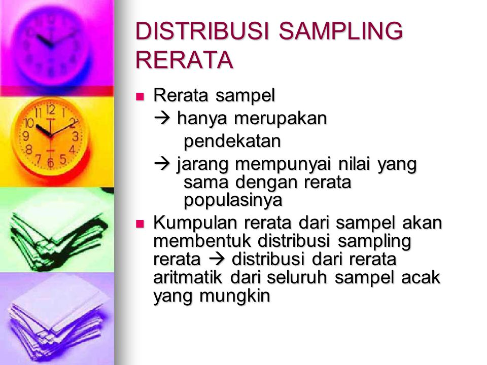 DISTRIBUSI SAMPLING RERATA