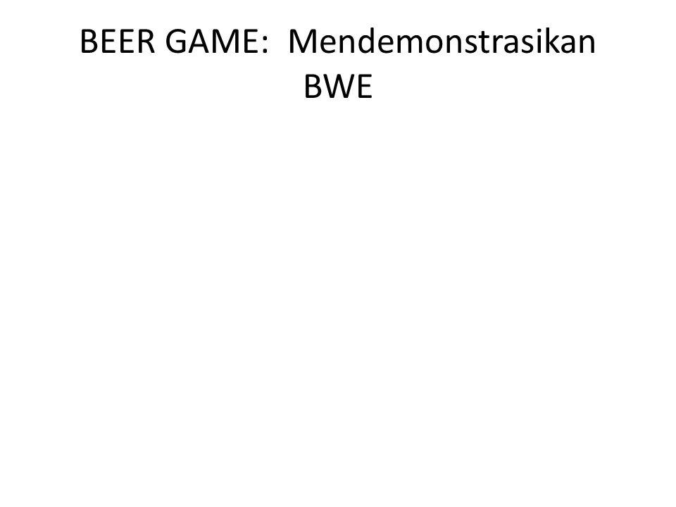 BEER GAME: Mendemonstrasikan BWE