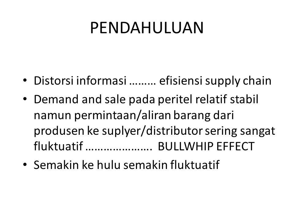 PENDAHULUAN Distorsi informasi ……… efisiensi supply chain