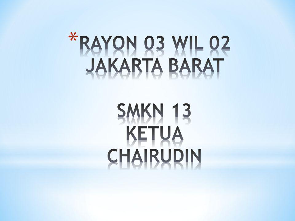 RAYON 03 WIL 02 JAKARTA BARAT SMKN 13 KETUA CHAIRUDIN