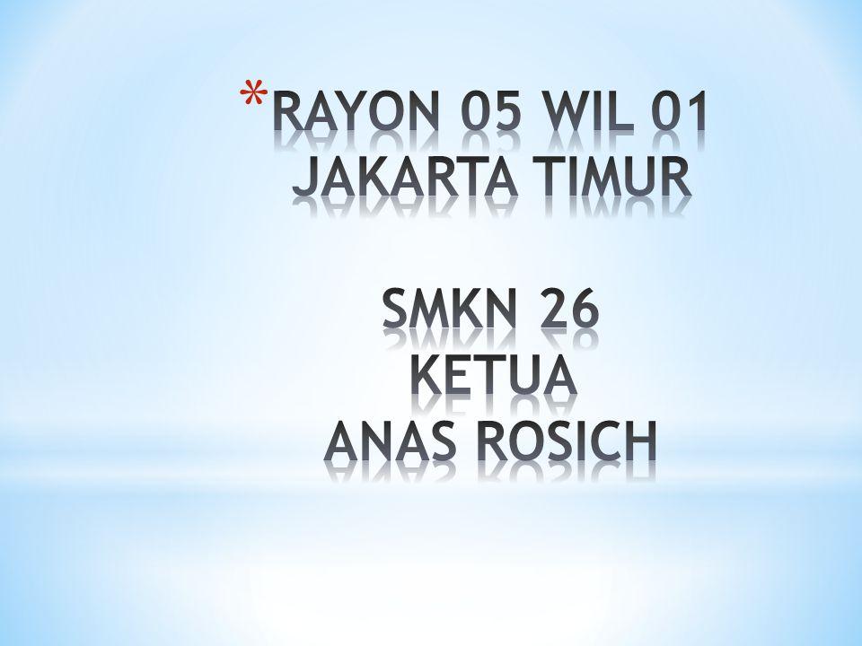 RAYON 05 WIL 01 JAKARTA TIMUR SMKN 26 KETUA ANAS ROSICH