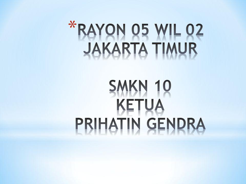 RAYON 05 WIL 02 JAKARTA TIMUR SMKN 10 KETUA PRIHATIN GENDRA