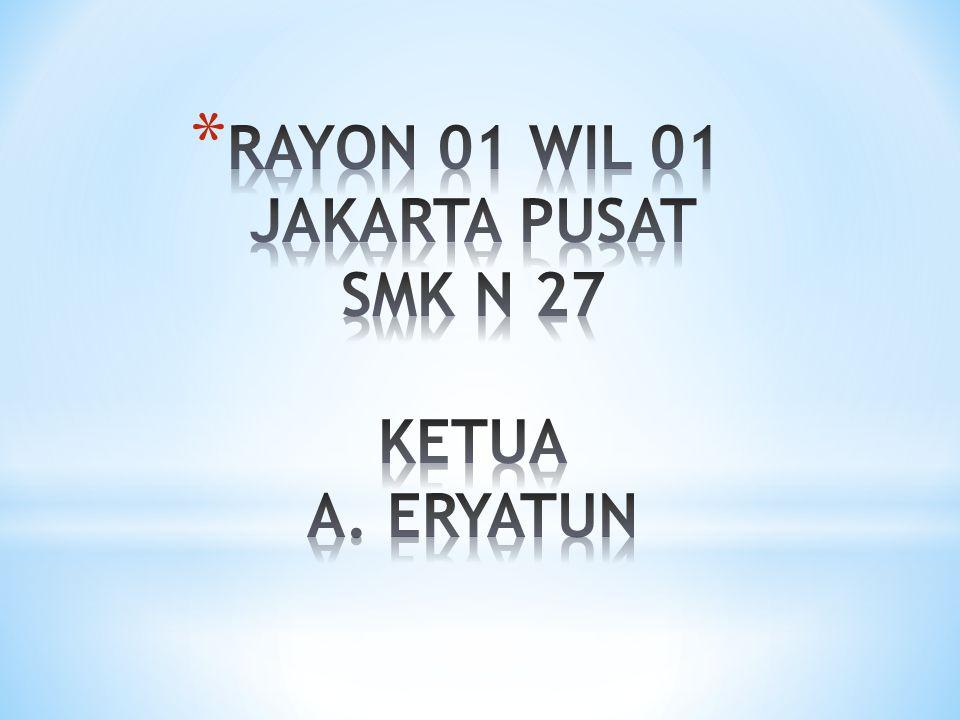 RAYON 01 WIL 01 JAKARTA PUSAT SMK N 27 KETUA A. ERYATUN