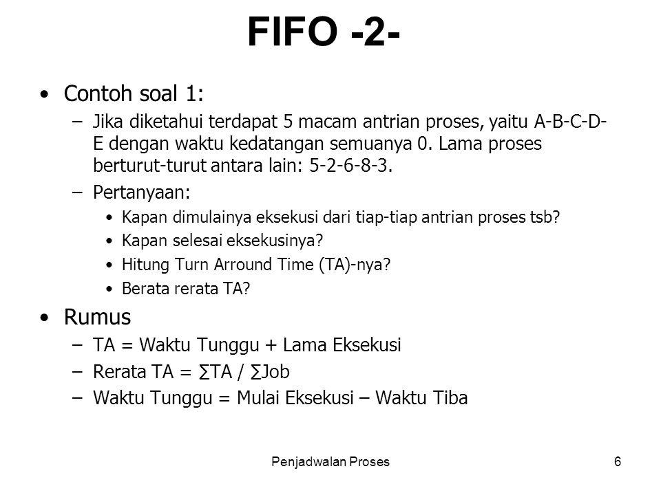 FIFO -2- Contoh soal 1: Rumus