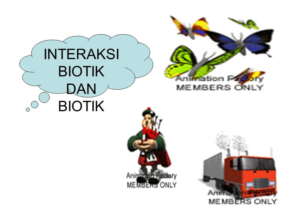 INTERAKSI BIOTIK DAN BIOTIK