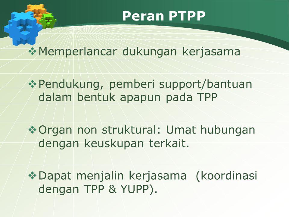Peran PTPP Memperlancar dukungan kerjasama