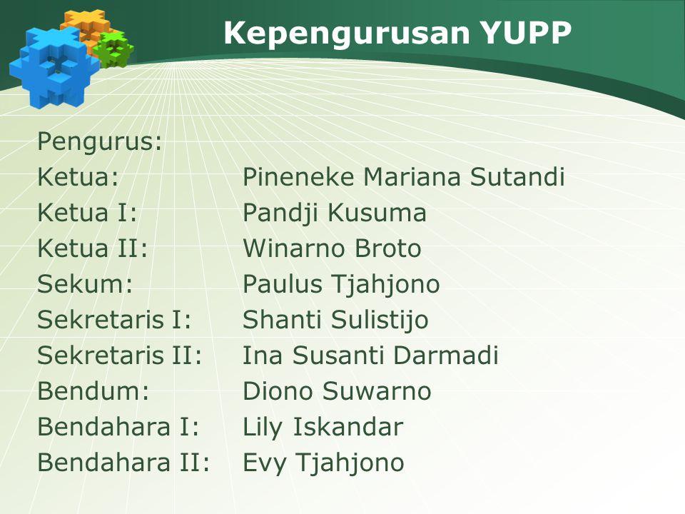 Kepengurusan YUPP Pengurus: Ketua: Pineneke Mariana Sutandi