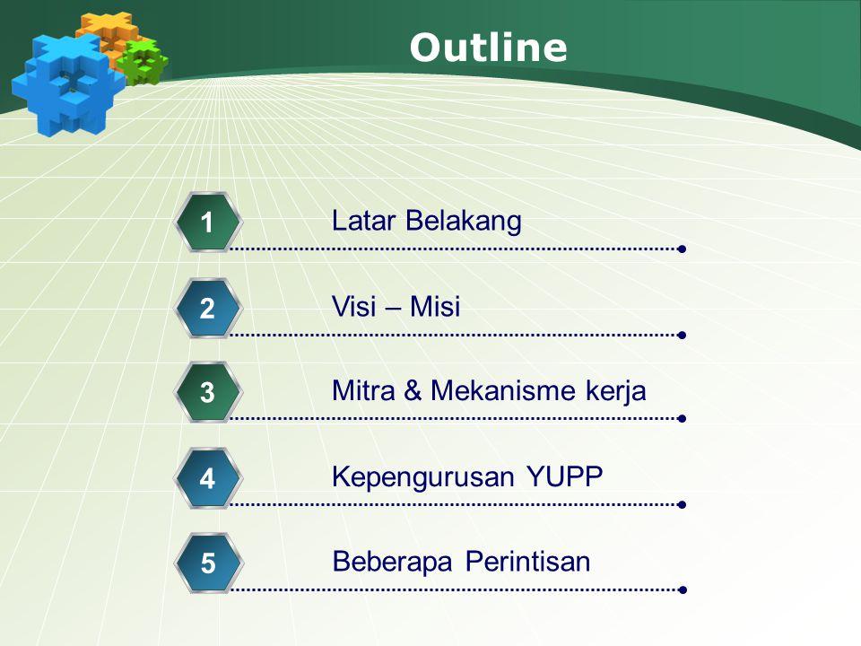Outline 1 Latar Belakang 2 Visi – Misi 3 Mitra & Mekanisme kerja 4