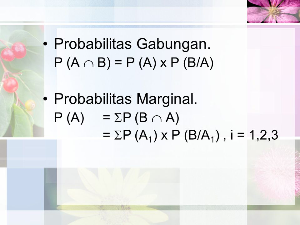 Probabilitas Gabungan.