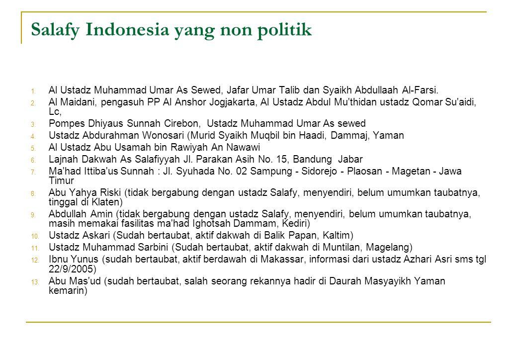 Salafy Indonesia yang non politik
