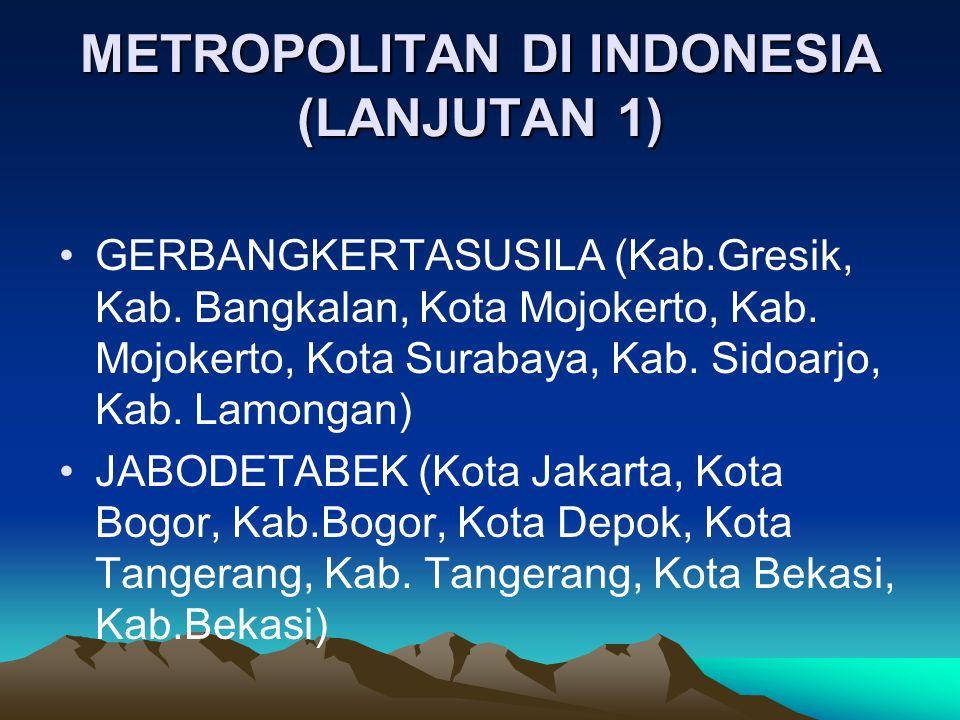 METROPOLITAN DI INDONESIA (LANJUTAN 1)