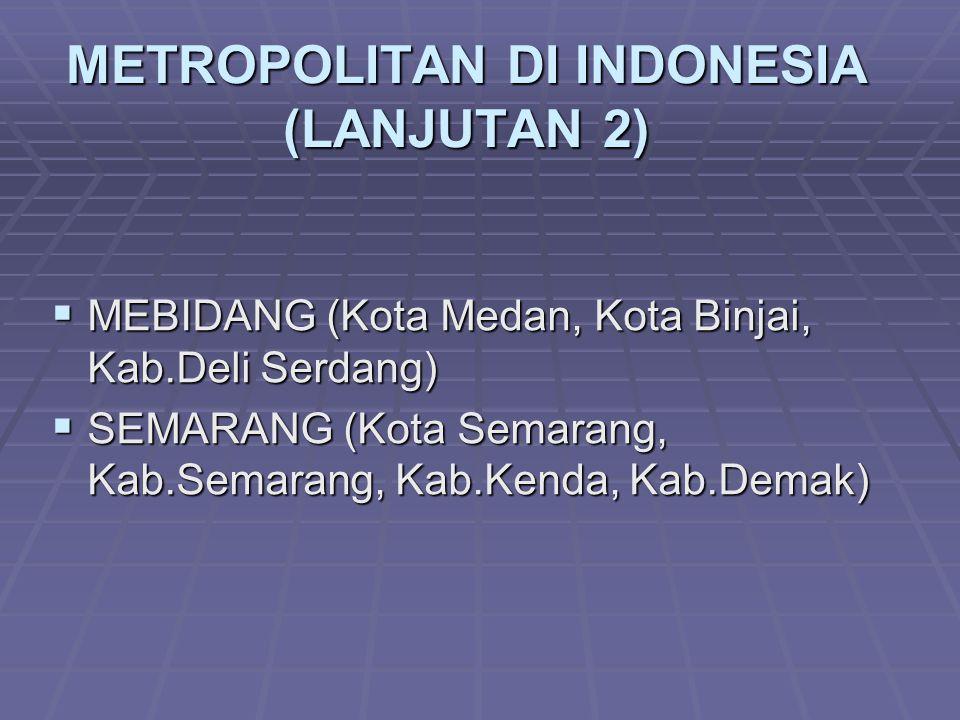 METROPOLITAN DI INDONESIA (LANJUTAN 2)