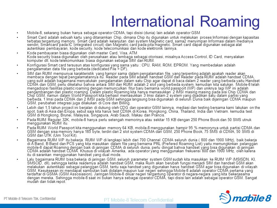 International Roaming