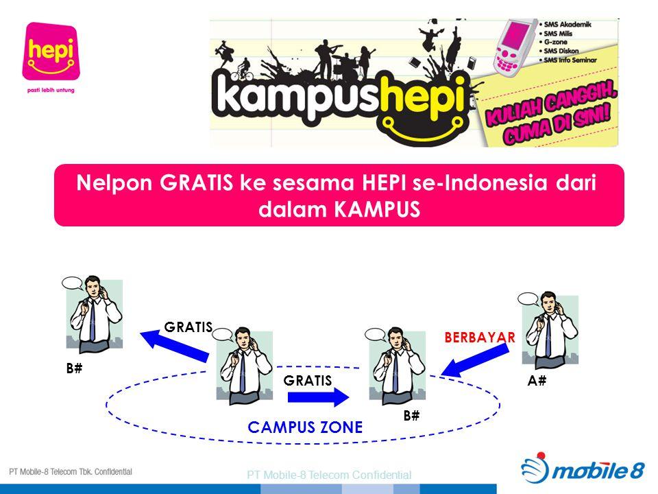 Nelpon GRATIS ke sesama HEPI se-Indonesia dari