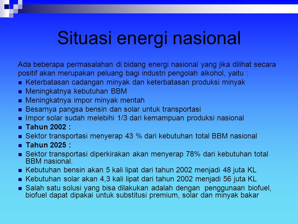 Situasi energi nasional